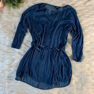 Simply Vera Tie Waist 3/4 Sleeve Dress